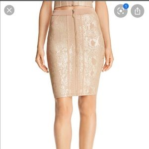 NWT Gold Guess Snake print skirt